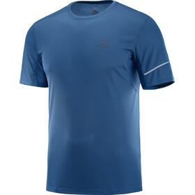 Salomon Agile Koszulka do biegania z krótkim rękawem Mężczyźni niebieski